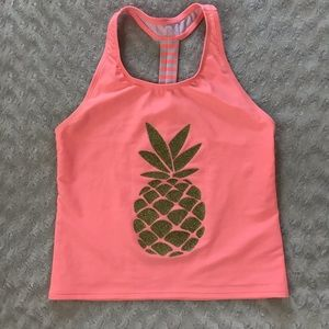 Cat & Jack Swim Shirt Tank Top Gold Pineapple